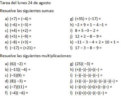 tarea de matem aticas para 3 grado matem 225 ticas 3 secundaria grupo a tarea del lunes 24 de agosto