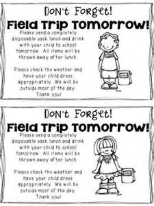 use this reminder note to send home with your kidoodles
