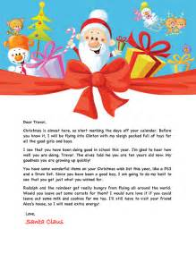 santa letter exle personalized letters from santa