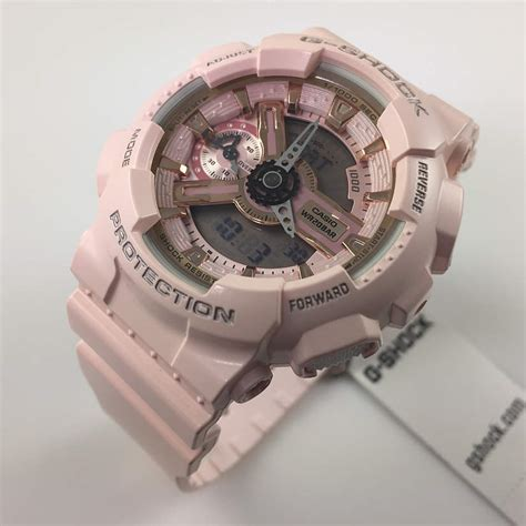 s casio g shock pink analog digital gmas110mp 4a1
