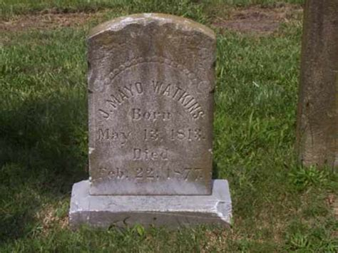 Cbell County Tn Marriage Records Joseph Mayo Watkins 1813 1877 Find A Grave Memorial