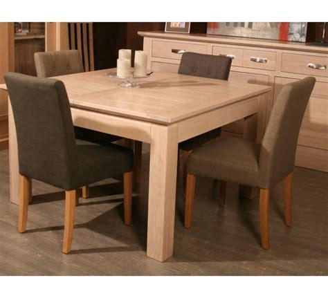 "Table carrée   allonge chêne massif ""Stockholm"" 140cm   3119"