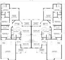 Multifamily Floor Plans by Haldimann Classic Duplex Plan 055d 0381 House Plans And More