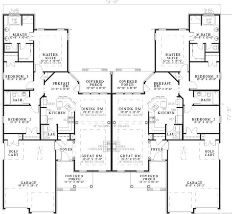 multifamily home plans haldimann classic duplex plan 055d 0381 house plans and more