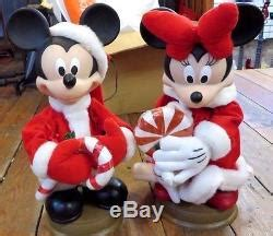 mickeyunlimited electric christmas decorations mickey minnie mouse animated figures 17