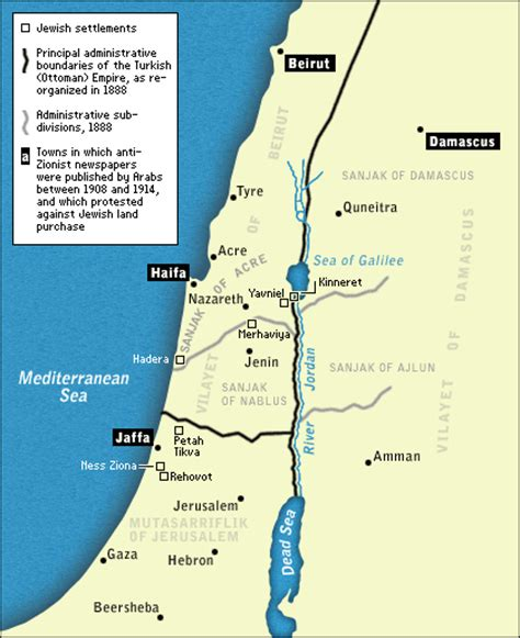 palestine ottoman empire npr the mideast a century of conflict map1