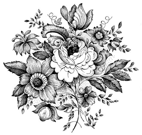 15 black and white floral tattoo designs