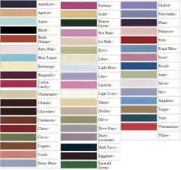 dress colors color chart