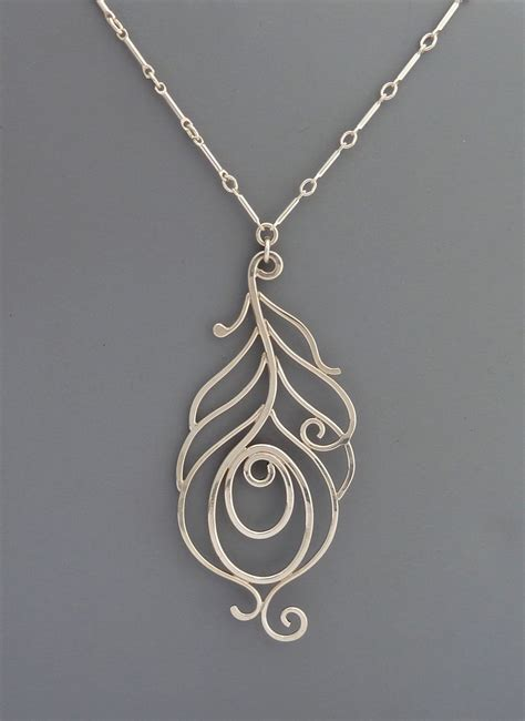 Sterling Silver Handmade Jewelry - sterling silver handmade peacock necklace wilder
