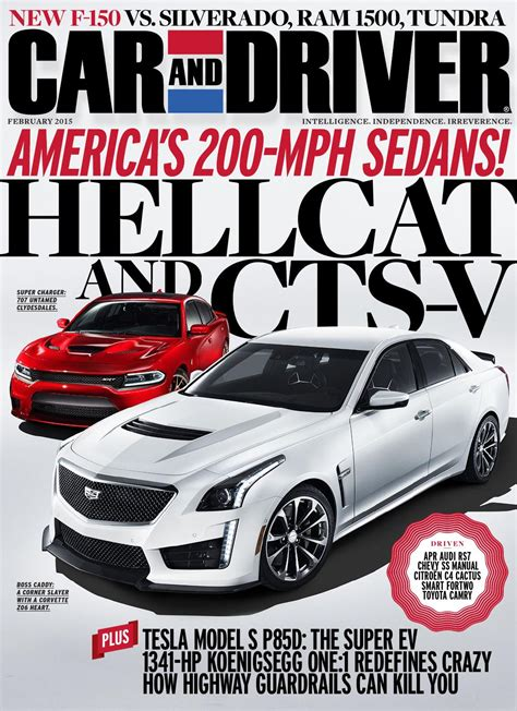 car and driver car and driver magazine february 2015 usa read online