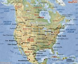america map and america geographical map