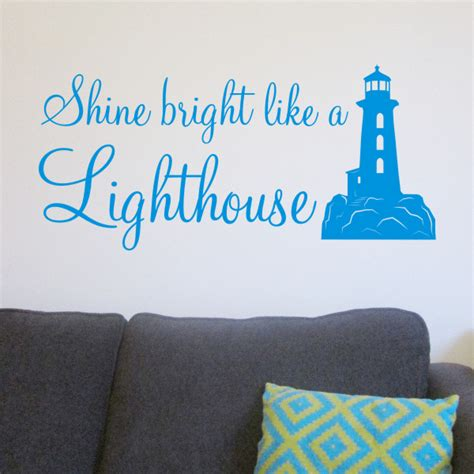 Lighthouse Wall Sticker shine bright quotes quotesgram