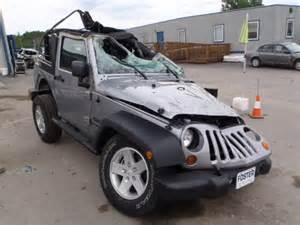 Wrecked Jeep Wrecked 2013 Jeep Wrangler S For Sale In Pa Duryea Lot