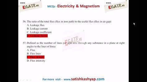 300 Objective Questions On Electricity And Magnetism 1