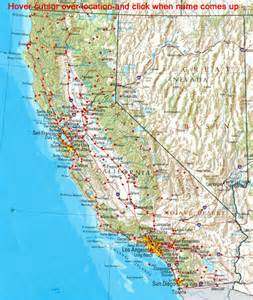 map of california with airports map california airports