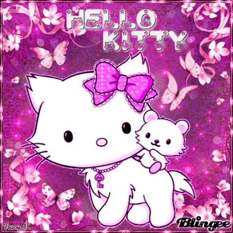 wallpaper hello kitty yg bisa bergerak hello kitty pink picture 130481140 blingee com