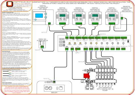 wiring diagram for underfloor heating thermostat wiring