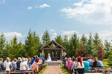 Wedding Ceremony Venues Edmonton by Lions Garden Wedding Lindsay Mitch Blue Photography