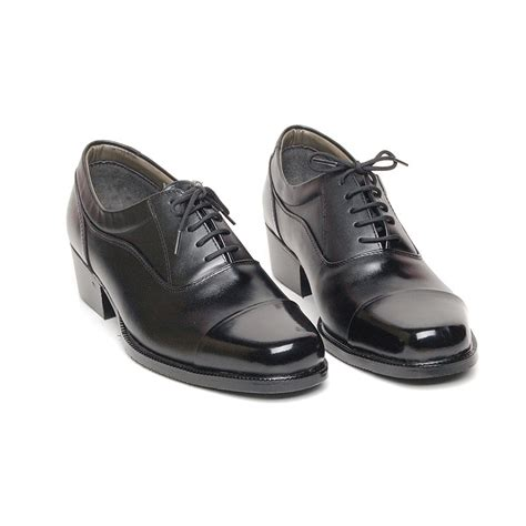 lacing oxford shoes s cap top black leather open lacing oxford shoes