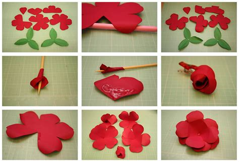 How To Make Roses Out Of Paper - bits of paper rolled and easy to assemble 3d