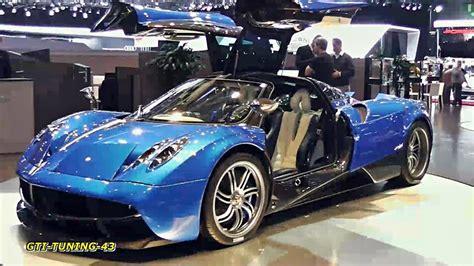 blue pagani blue pagani huayra track pack geneva motor 2013