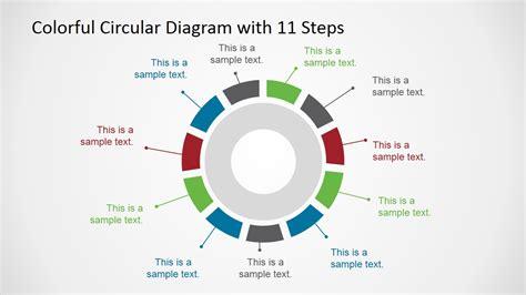 6 steps circular segmented diagram for powerpoint slidemodel colorful 11 steps circular diagram for powerpoint slidemodel