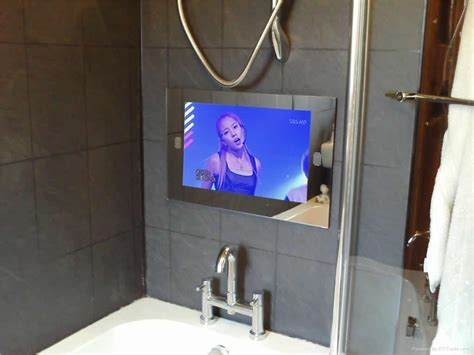 mirror with tv in it bathroom 8 ways to pimp your bathroom