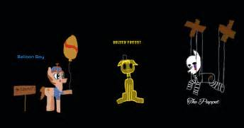 Balloon boy golden freddy the puppet mlp fnaf by timelordpony on
