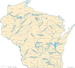 Map Wisconsin by Map Of Wisconsin