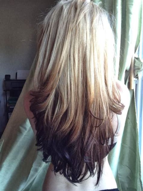 feathered reversed ombre hairstyles reverse ombre tumblr www pixshark com images galleries