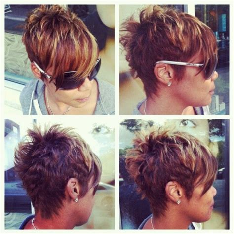 short pixie haircuts with asymmetrical bangs front and side view my next haircut really short and textured at the back