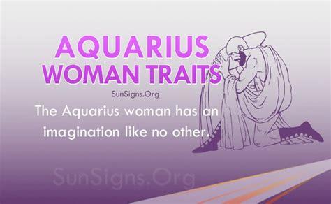 aquarius woman personality traits characteristics sun