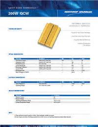 silver bullet laser diode array submodules datasheet laser diode array submodules 200w qcw 1 bar