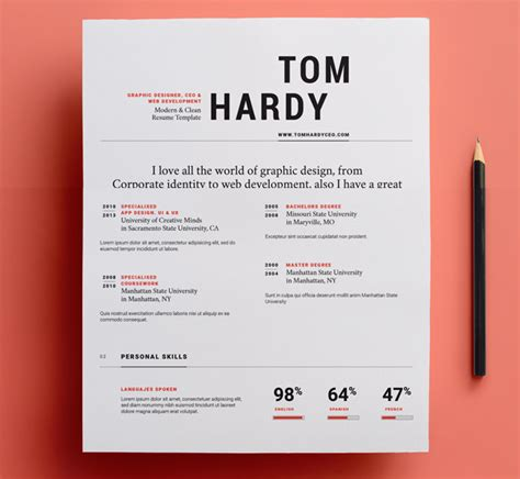 Graphic Resume Templates by 23 Free Creative Resume Templates With Cover Letter