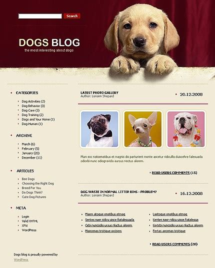 Theme Names For Dogs | 6 attractive wordpress themes for animal sites wp solver