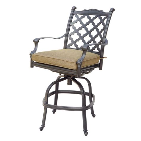 darlee camino real outdoor counter height swivel bar stool