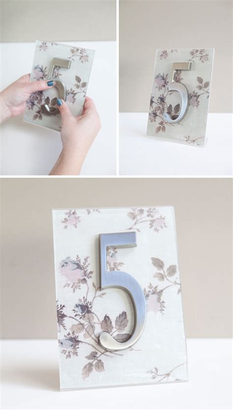 Diy Table Numbers by Diy How To Turn Address Numbers Into Table Numbers