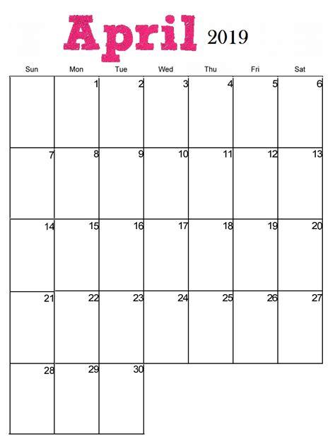 printable monthly calendars vertical april 2019 calendar latest calendar