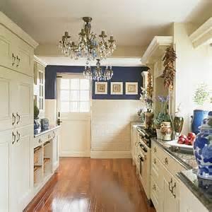 White Galley Kitchen Ideas by Blue And White Kitchen Kimsta 75 Flickr