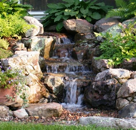 Backyard Pond With Waterfall by Water Feature On Water Features Backyard