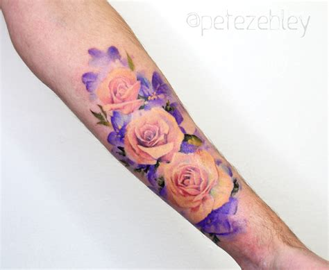 watercolor tattoo in london pete zebley tattoos