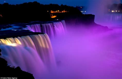 niagara falls light show the world s brightest water colours magical pictures of