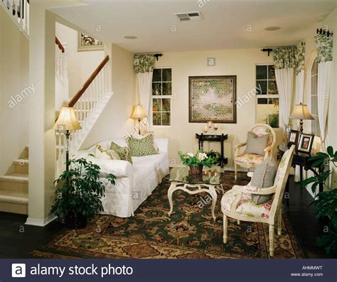 old fashioned living room cozy sitting room with an old fashioned style stock photo