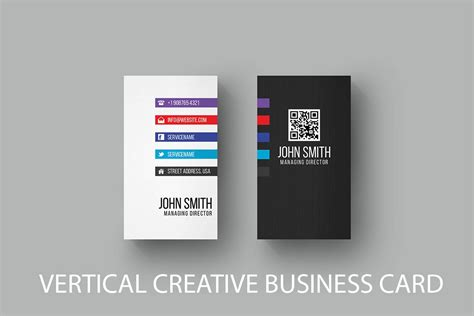 Business Card Vertical Template Free by Free Vertical Business Card Template Creativetacos