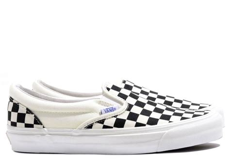 Vans Vault Og Checkboard vans vault og classic slip on lx checkerboard black white novoid plus