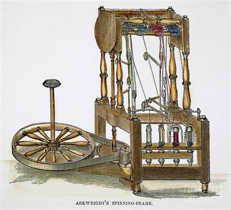 1800 Shower Bath arkwrights spinning frame photograph by granger