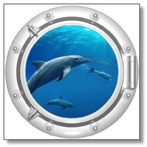 dolphin themed bathroom 20 inch dolphin porthole window mural just image how it