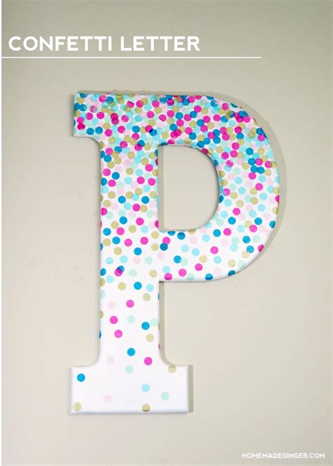How To Make Paper Letters For Your Wall - diy wall confetti letter
