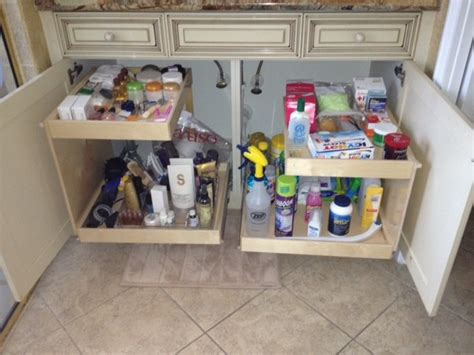 bathroom under cabinet organizers under sink pull out shelves bathroom cabinets and