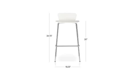 Felix White Counter Stool by Felix White Bar Stools Crate And Barrel